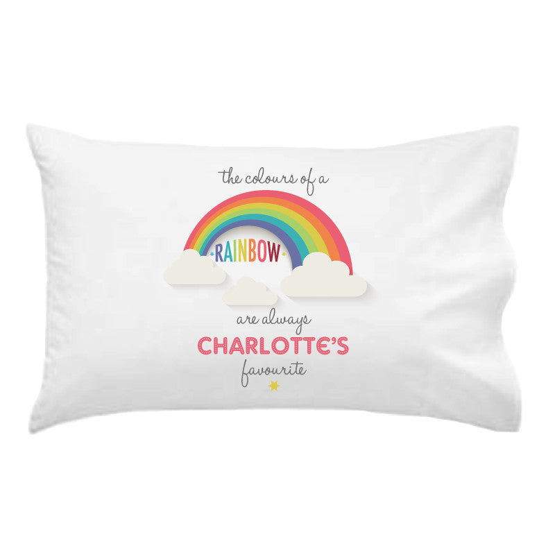 Rainbow Personalised Pillowcase - Lil Sunshine Collections