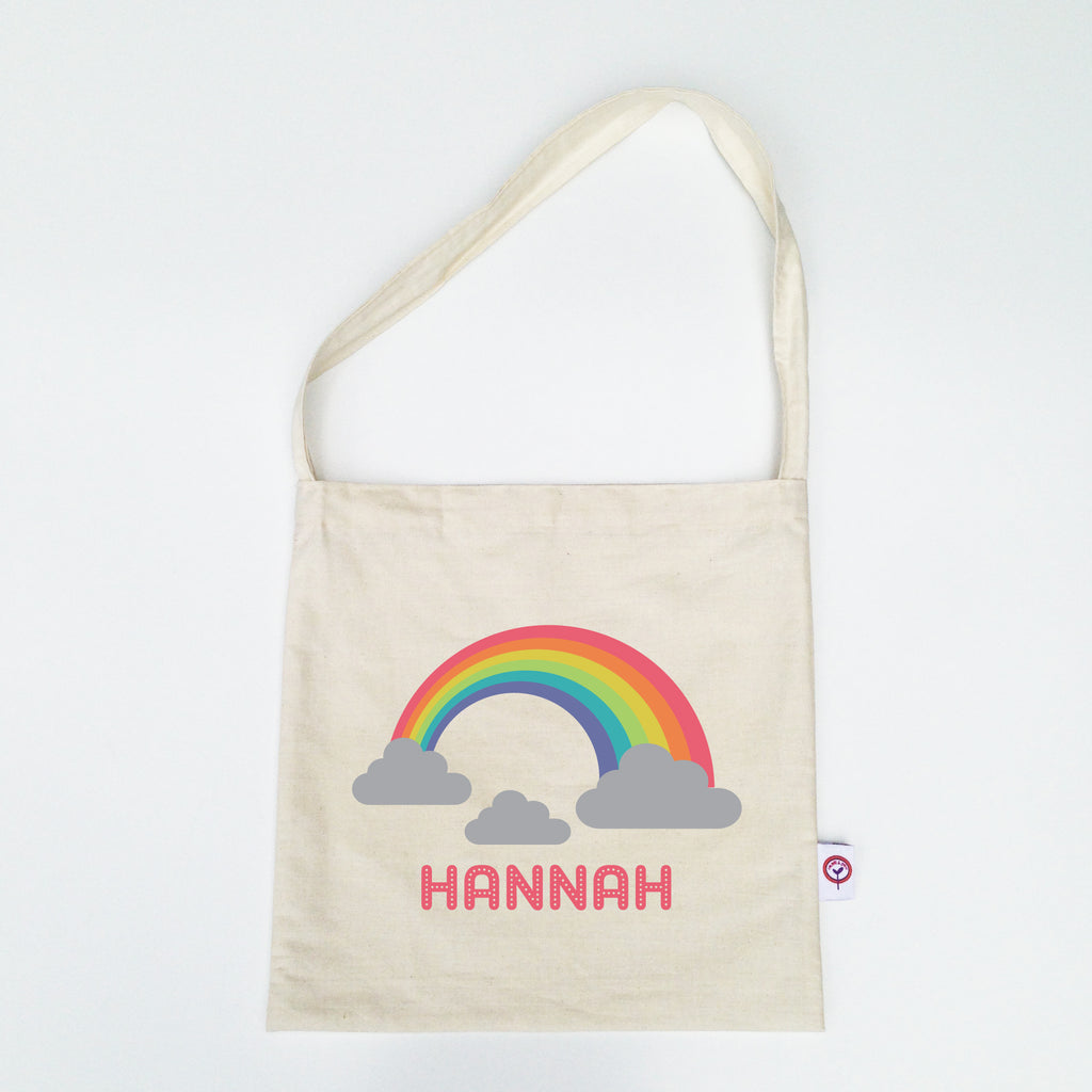 Rainbow Personalised Library Bag - Lil Sunshine Collections
