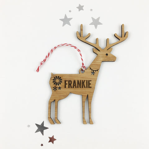 Reindeer Name Ornament - Lil Sunshine Collections
