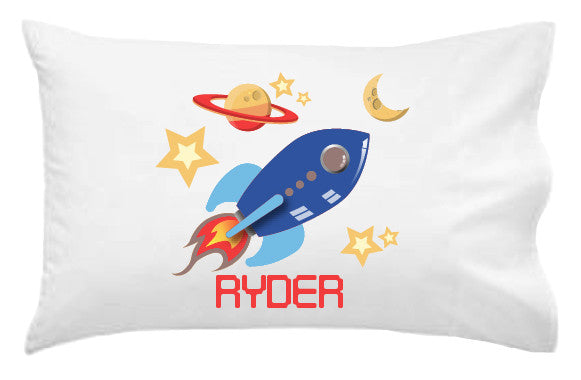 Rocket Personalised Pillowcase - Lil Sunshine Collections