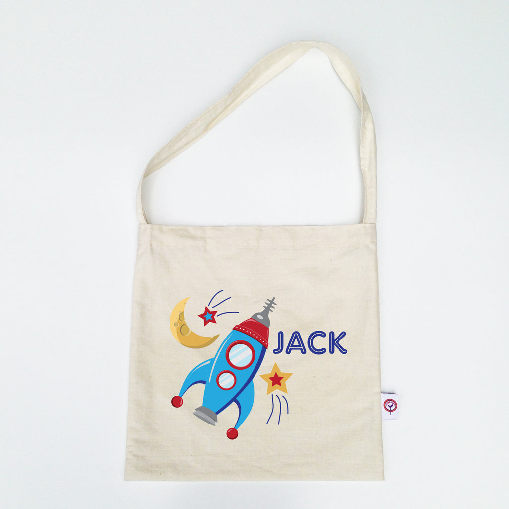Rocket Personalised Library Bag - Lil Sunshine Collections