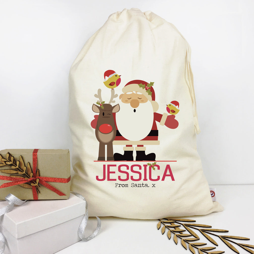 Santa & Friends Personalised Santa Sack - Lil Sunshine Collections