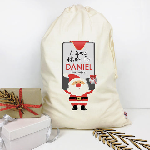 Santa's Sign Personalised Santa Sack - Lil Sunshine Collections
