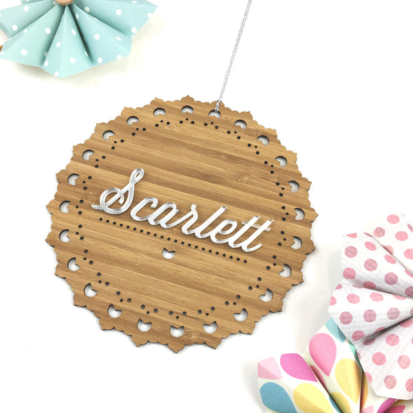 Girls' Personalised Scalloped Wall Hanging - Lil Sunshine Collections
