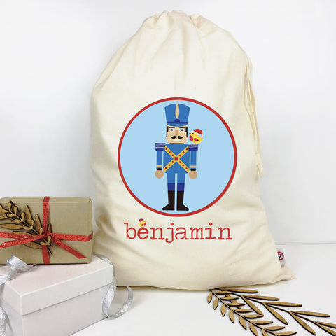 Soldier Circle Personalised Santa Sack - Lil Sunshine Collections
