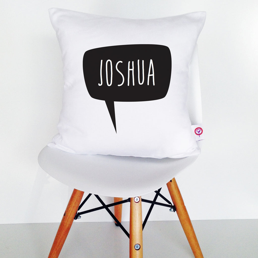 Speech Bubble Personalised Cushion Cover - Lil Sunshine Collections