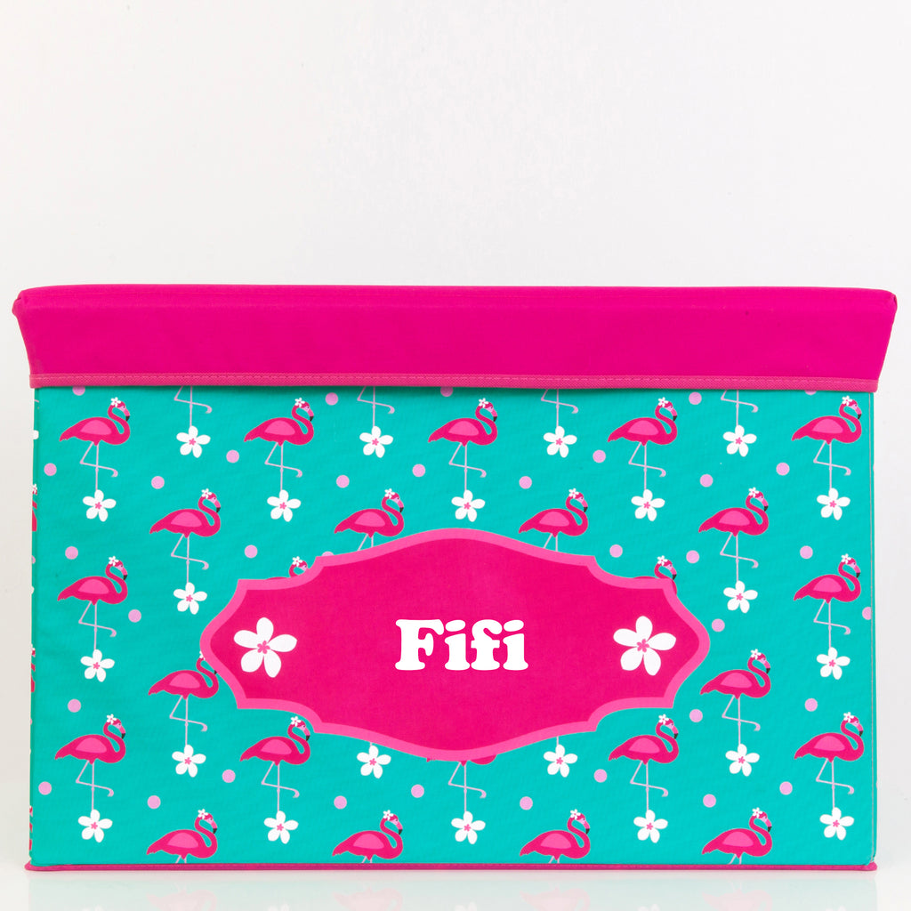Flamingo Personalised Storage Box - Lil Sunshine Collections