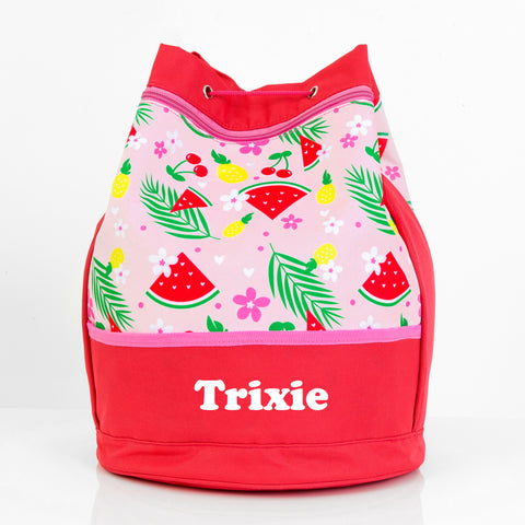 Tropical Personalised Swim Bag