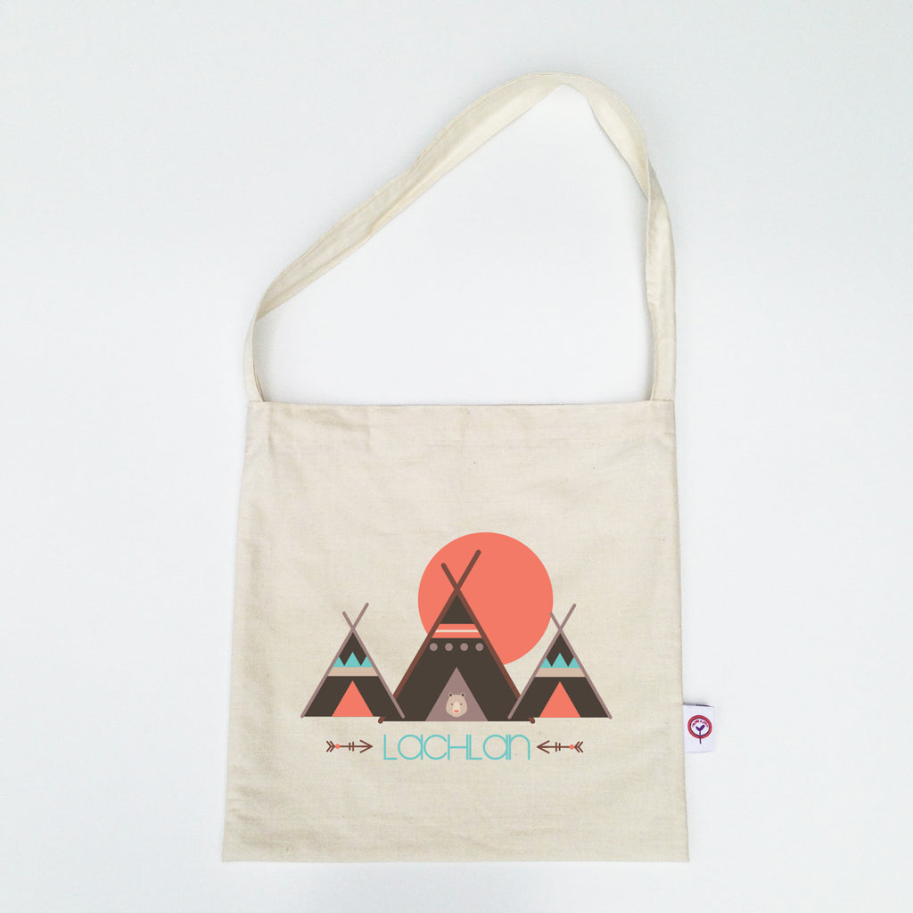 Teepee Personalised Library Bag - Lil Sunshine Collections