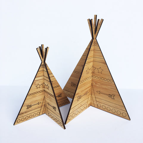 3D Teepees - Set of 2 - Lil Sunshine Collections