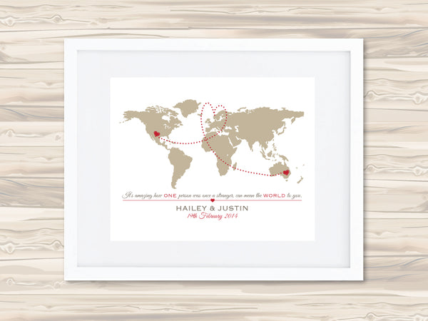 The World Personalised Print - Lil Sunshine Collections