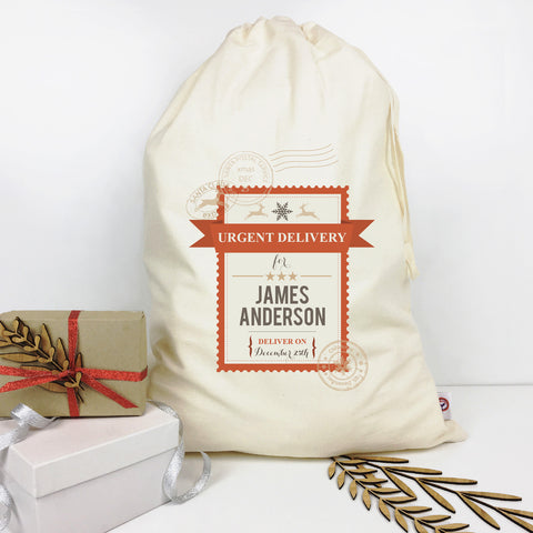 Urgent Delivery Personalised Santa Sack - Lil Sunshine Collections