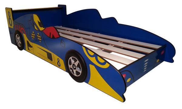 Blue Racing Car Bed Kids Race - Lil Sunshine Collections