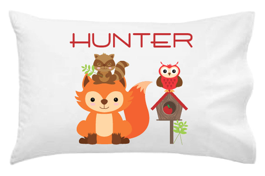 Woodland Animals Personalised Pillowcase - Lil Sunshine Collections