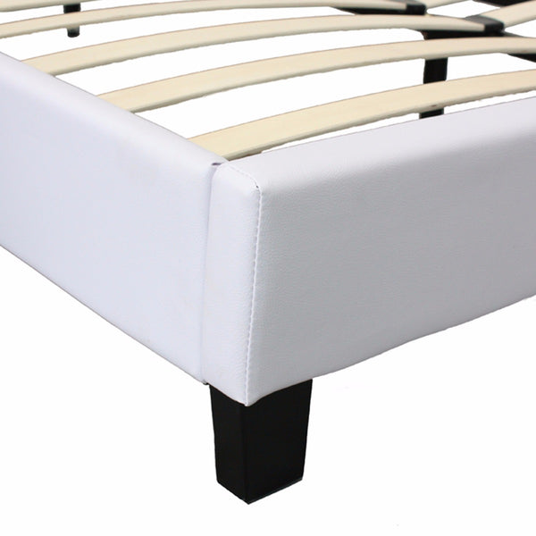Mondeo PU Leather Double White Bed - Lil Sunshine Collections