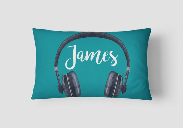 Boys' Headphones Personalised Cushion - Lil Sunshine Collections