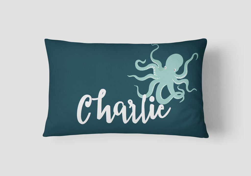 Boys' Octopus Personalised Cushion - Lil Sunshine Collections