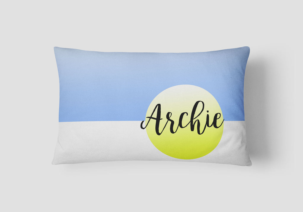 Boys' Splice Personalised Cushion - Lil Sunshine Collections