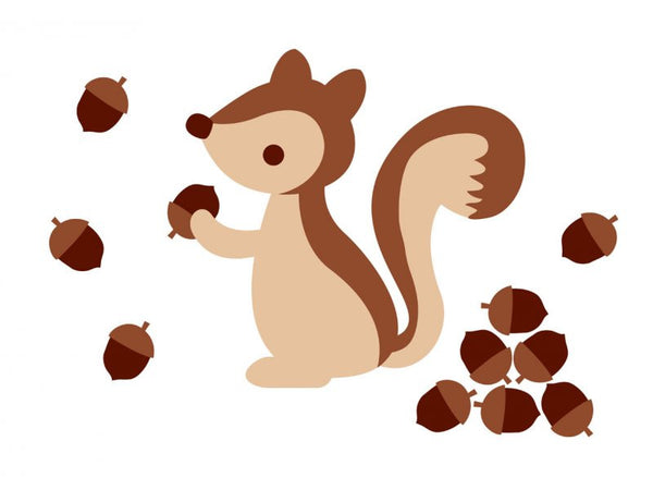 Brown Squirrel Wall Decal - Lil Sunshine Collections
