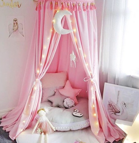 Pink Round Canopy - Lil Sunshine Collections
