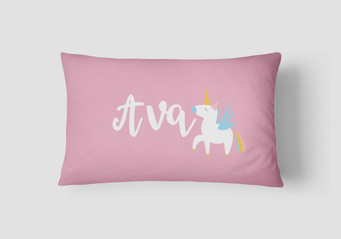 Girls' Unicorn Personalised Cushion - Lil Sunshine Collections