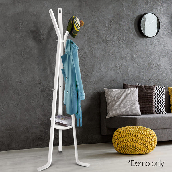 Wooden Coat Rack Clothes Stand Hanger White - Lil Sunshine Collections