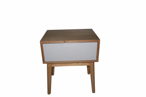 Annika Scandinavian Side Table with Drawer - Grey - Lil Sunshine Collections