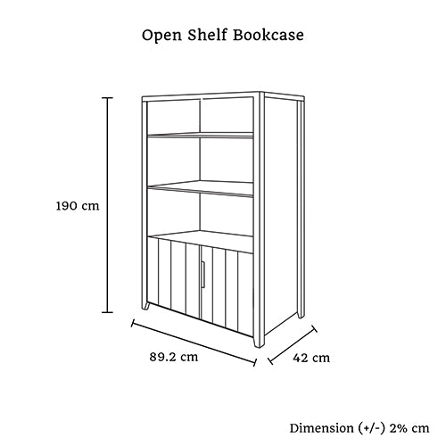 Alice Open Shelf Bookcase - Lil Sunshine Collections