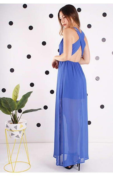 Grecian Style Maxi Dress - Lil Sunshine Collections