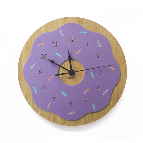 Donut Wooden Wall Clock - Various Colours - Lil Sunshine Collections