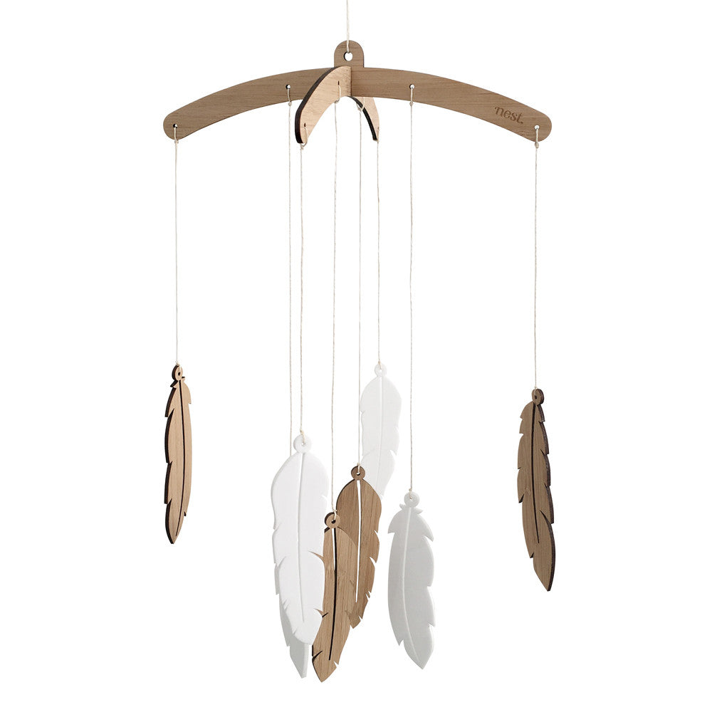 Feather Nursery Mobile - Lil Sunshine Collections