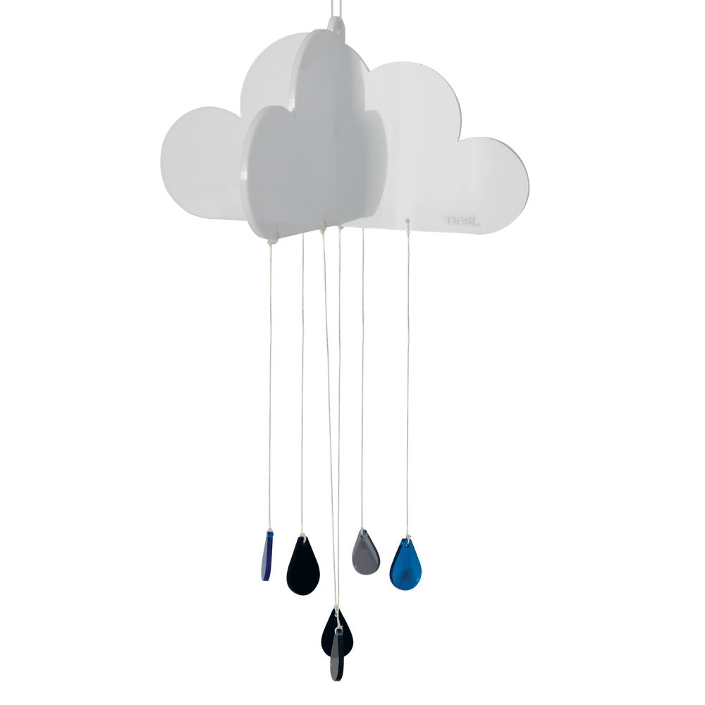 Happy Cloud Nursery Mobile - Mono Acrylic - Lil Sunshine Collections