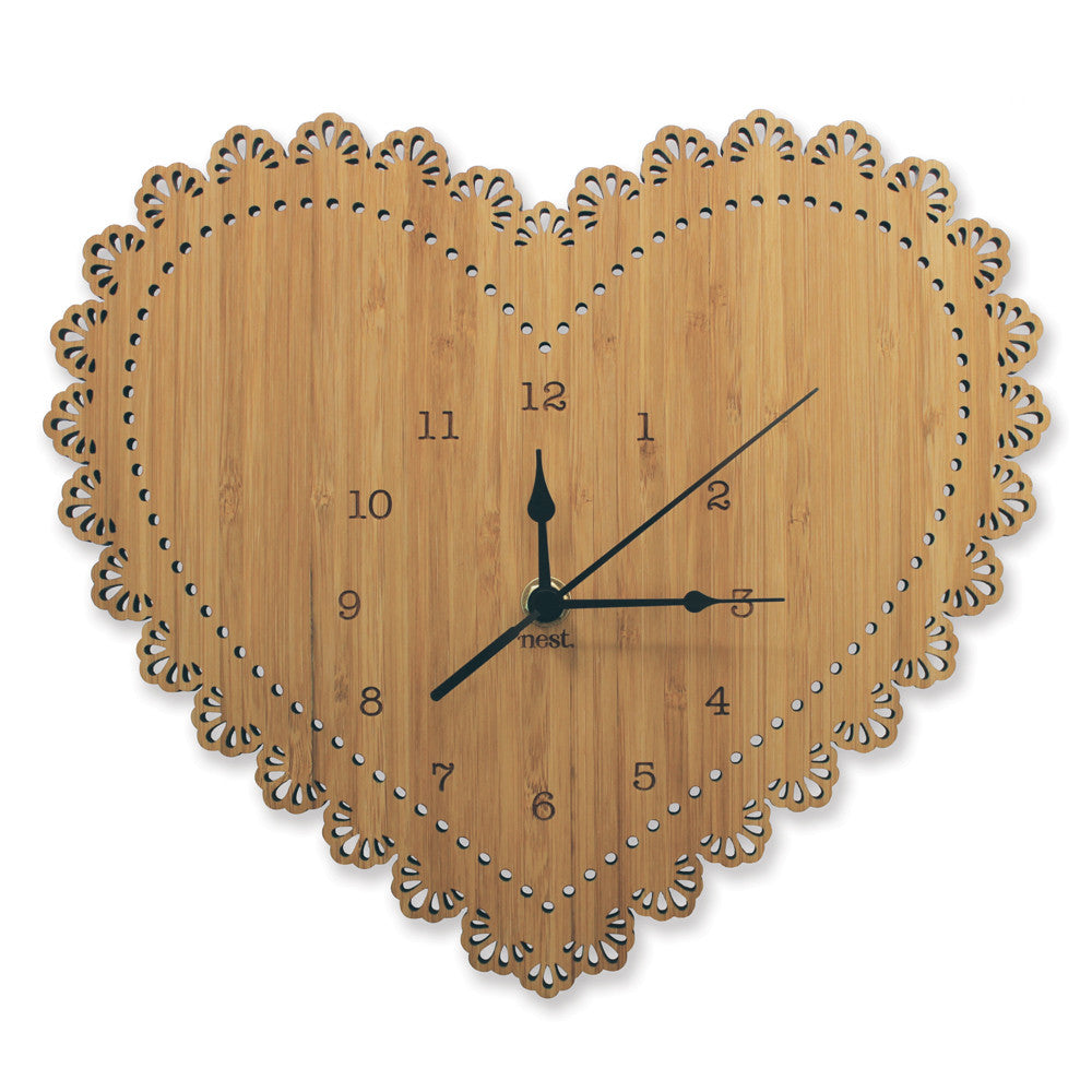 Heart Wall Clock - Lil Sunshine Collections