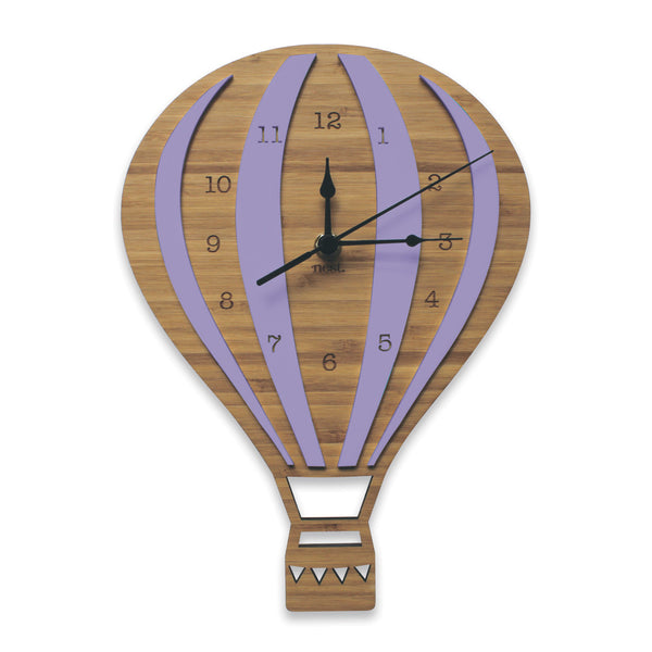 Hot Air Balloon Wall Clock - Various Colours - Lil Sunshine Collections