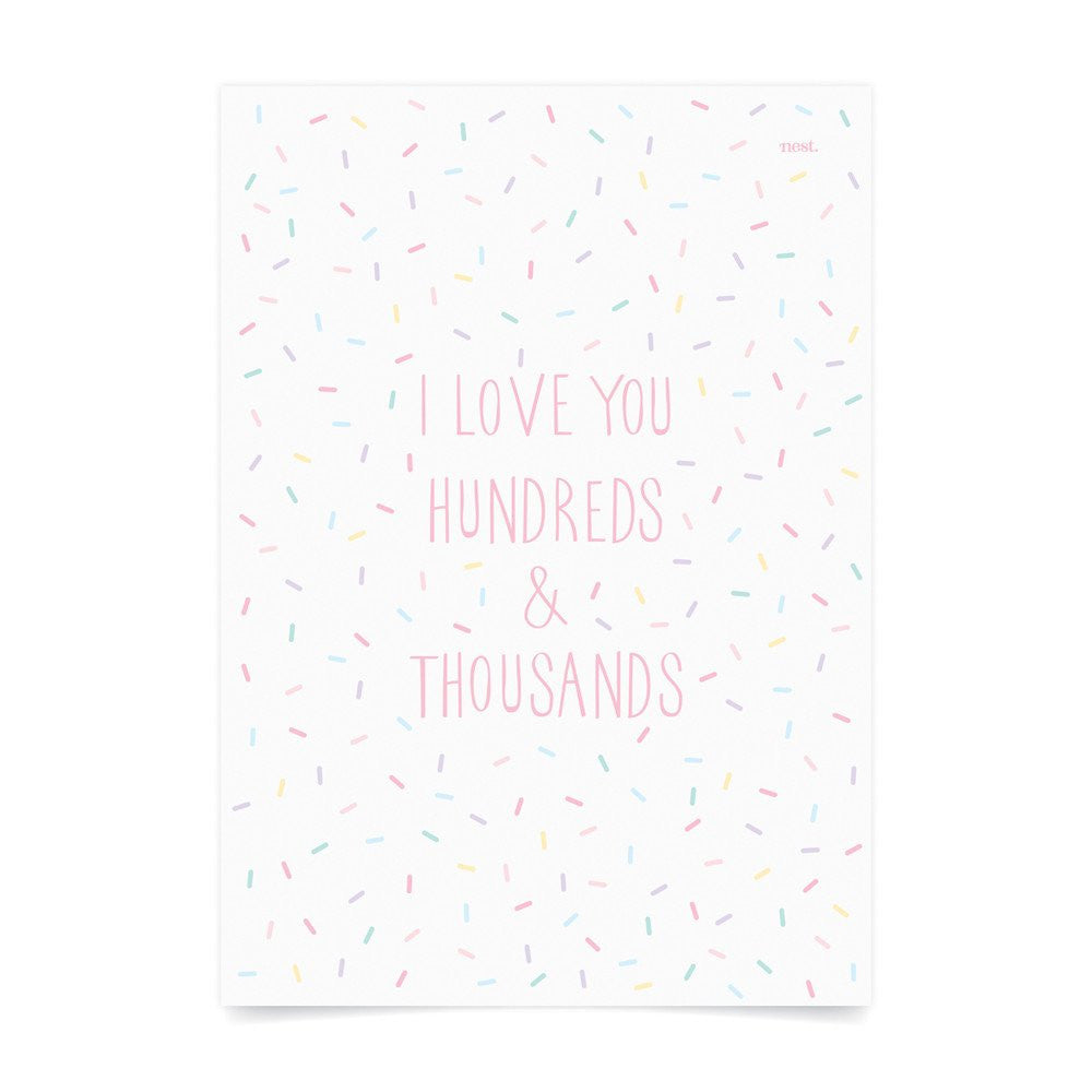 Hundreds & Thousands Pastel Wall Print - Lil Sunshine Collections