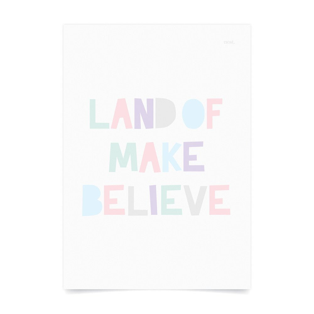 Land of Make Believe Pastel Wall Print - Lil Sunshine Collections