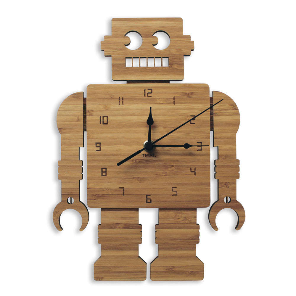 Retro Robot Wall Clock - Lil Sunshine Collections