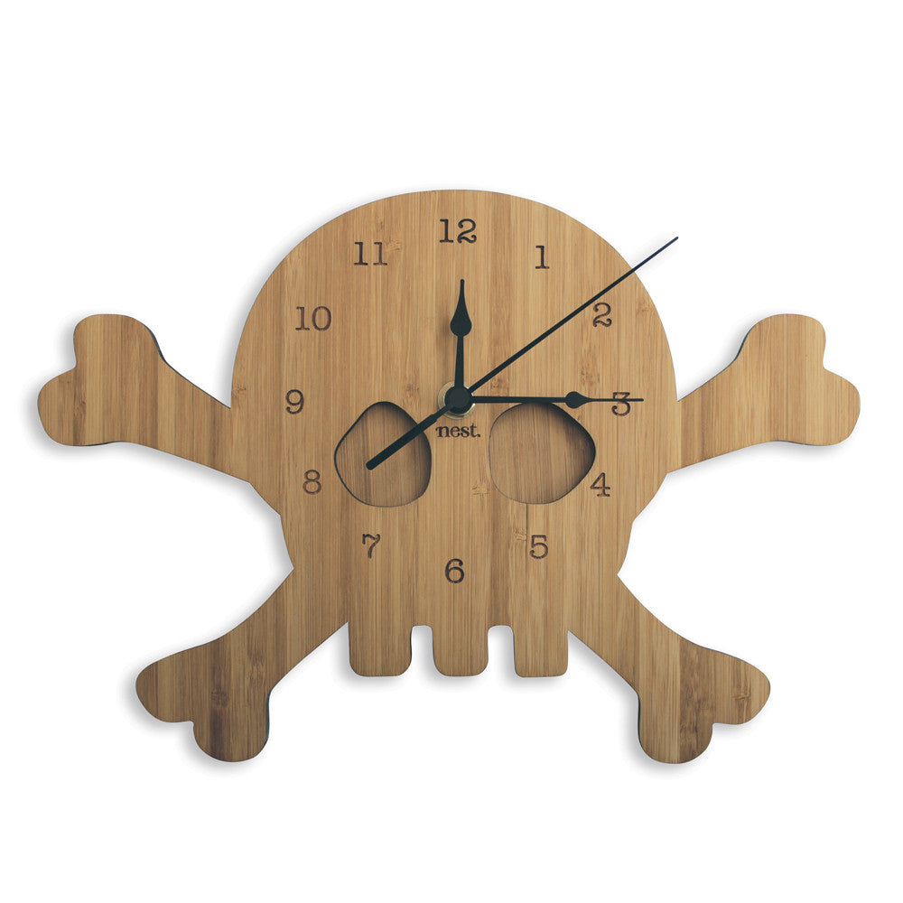 Skull Wall Clock - Lil Sunshine Collections