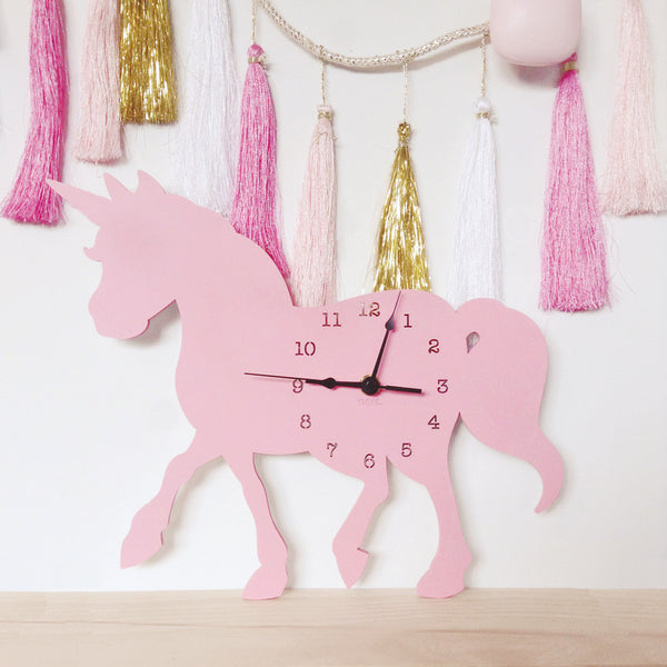 Unicorn Wall Clock - Lil Sunshine Collections