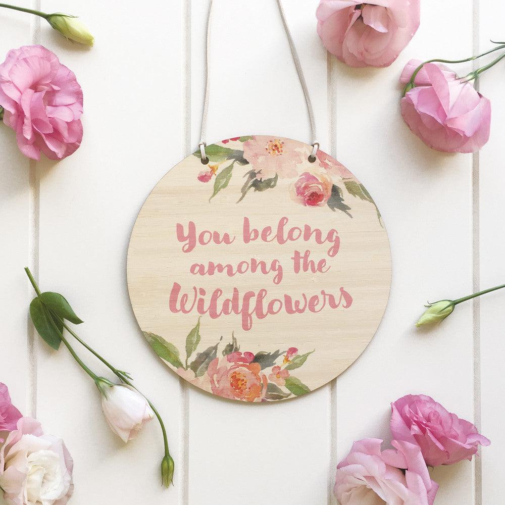 Wildflower Printed Plaque - Lil Sunshine Collections