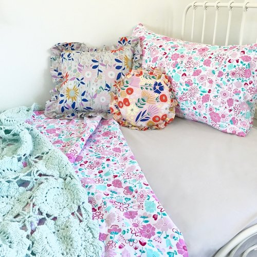 Fairy Garden Floral Single Doona/Quilt Cover Set - Lil Sunshine Collections