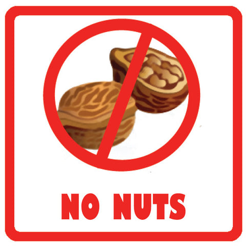 Allergy Labels - No Nuts