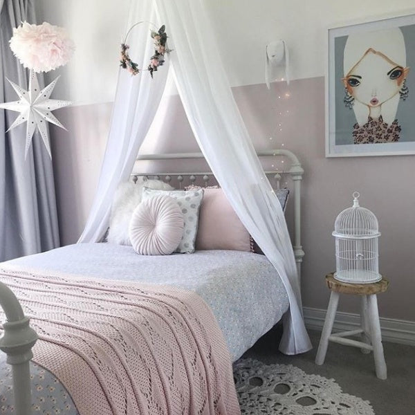 White Drape Canopy - Lil Sunshine Collections