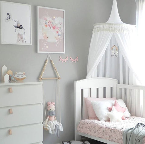 White Round Canopy - Lil Sunshine Collections