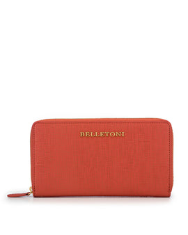 PINOSA - Zip Around Continental Wallet - Peach