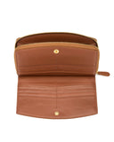 BURANO - Envelop & Zip Around 2-IN-1 Organizer Continental Wallet - Brown