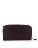 BUDELLI - Envelop & Zip Around 2-IN-1 Organizer Continental Wallet - Chocolate
