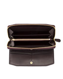 BUDELLI - Envelop & Zip Around 2-IN-1 Organizer Continental Wallet - Brown