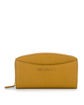 LEVANZO - Envelop & Zip Around 2-IN-1 Organizer Continental Wallet - Yellow