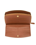 LEVANZO - Envelop & Zip Around 2-IN-1 Organizer Continental Wallet - Tan
